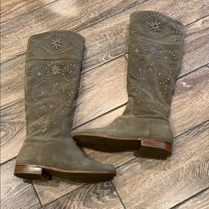 Tall Boots with whip stitch design